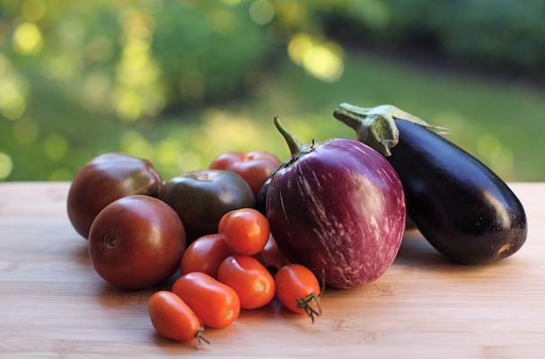 eggplant tomatoes