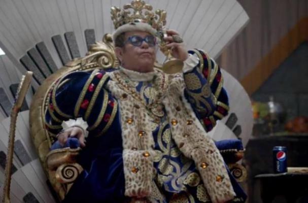 Elton John and Melanie Amaro Star in Pepsi Super Bowl Commercial
