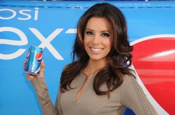 Eva Longoria Promotes Pepsi NEXT in Times Square
