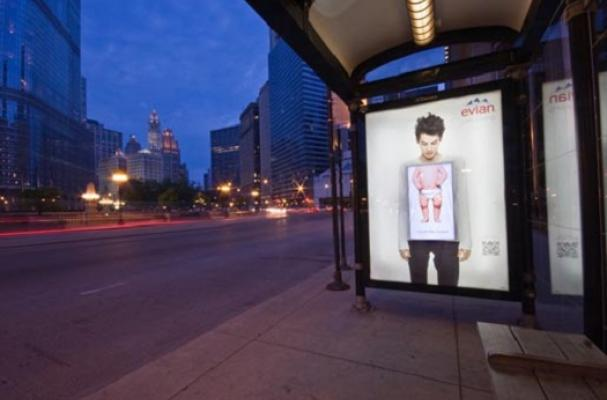 Foodista Interactive Evian Bus Shelters Feature A