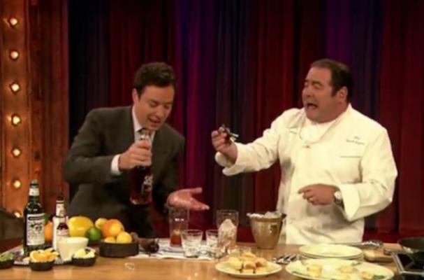 Emeril Lagasse Makes Sazeracs With Jimmy Fallon