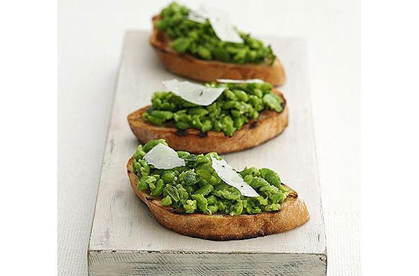 Foodista | Spring Forward Fava Bean Crostini