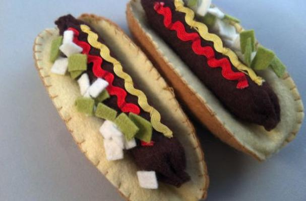 Felted Hot Dog Play Kit