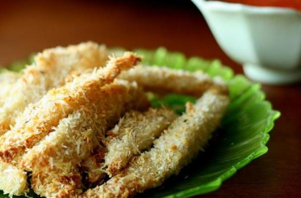 : the fish stick! These parmesan and garlic crusted tilapia sticks ...