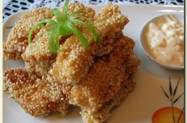 Sesame Crusted Fish Sticks