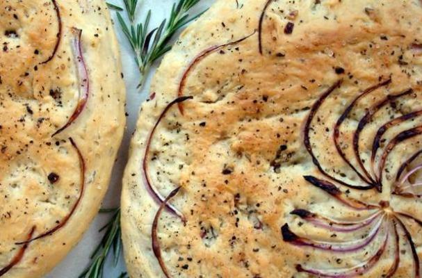 Foodista | Rosemary Red Onion Focaccia