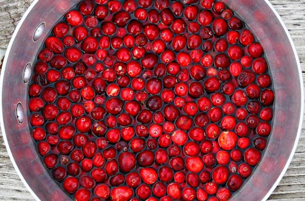 cranberries being turned into sauce!