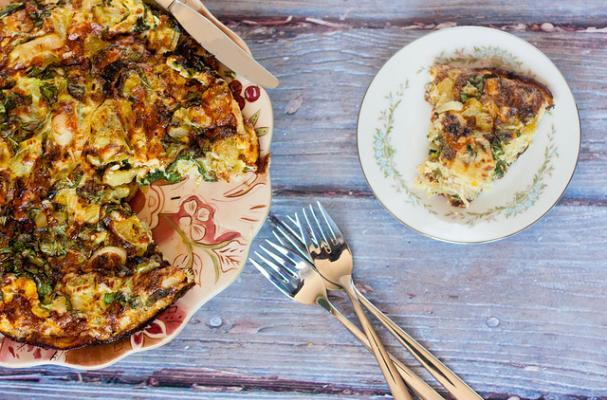 ... Tomato and Leek Frittata is a perfectly simple way to make a delicious