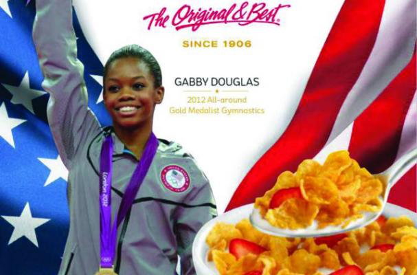 Gabby Douglas Partners With Kelloggs'