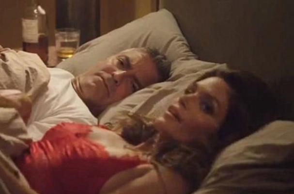 George Clooney Jumps Into Bed with Cindy Crawford in New Tequila Commercial