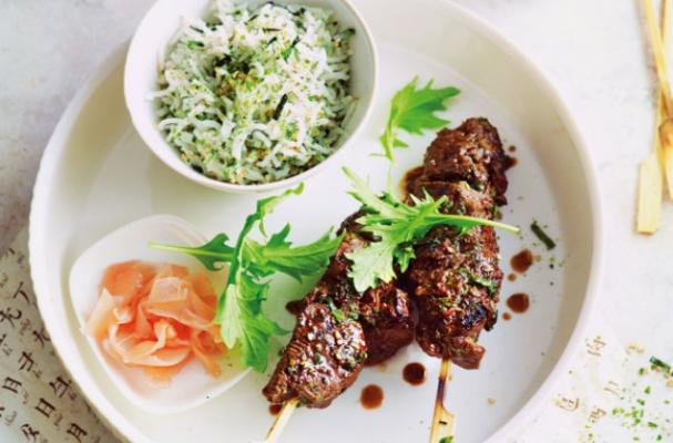 Around the World: Japanese Green Tea Beef Yakitori