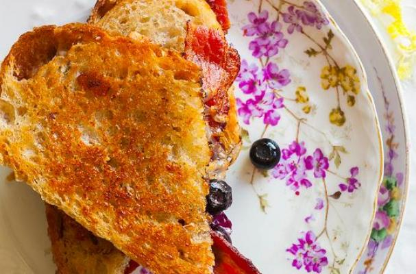 Blueberry Cobbler & Bacon Grilled Cheese Sandwich