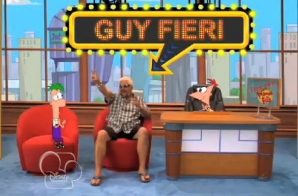 Foodista Guy Fieri Visits Phineas And Ferb