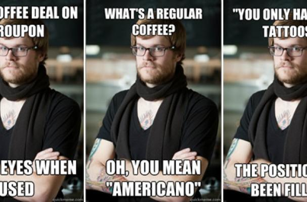 hipster barista foodista hipster barista meme pokes fun at coffee shop workers