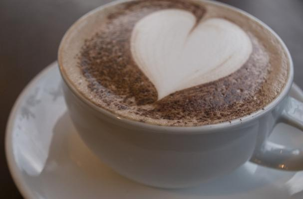 hot chocolate with foam heart