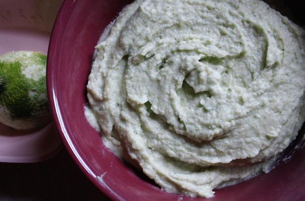 Foodista | Quick and Easy Basil Lime White Bean Hummus