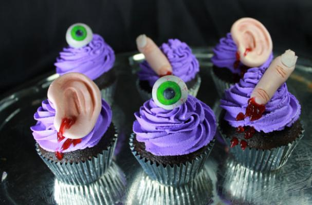 Foodista Halloween Cupcake Toppers Are Gruesomely Gory