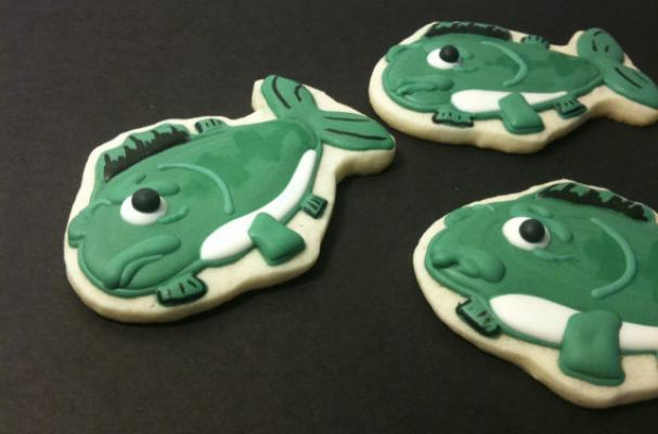 bass fish cookies
