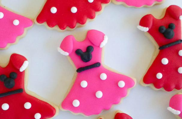 Minnie Mouse Dress Cookies