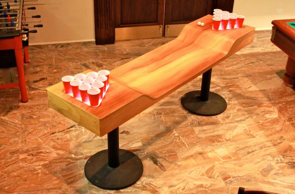 Foodista   Custom Beer Pong Table is a Man Cave Must-Have