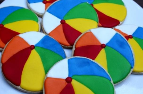 Beach Ball Pool Party Summer Cookies