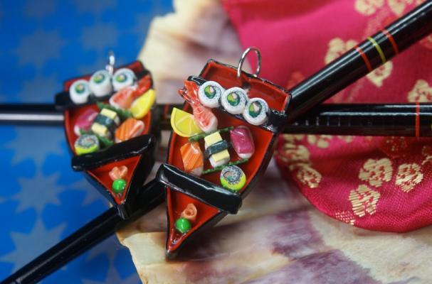 Sushi Boat Earrings