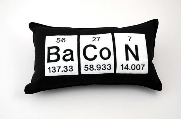 Bacon Periodic Table Pillow
