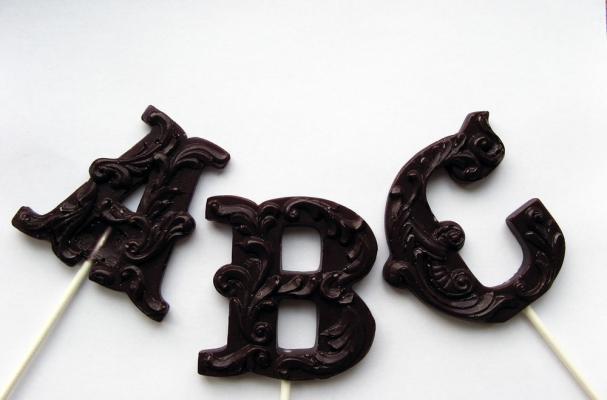 Filigree Letter Monogram Lollipops