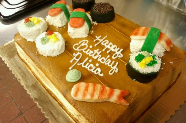 Marvelous Foodista This Sushi Birthday Cake Is A Deceptive Dessert Funny Birthday Cards Online Barepcheapnameinfo