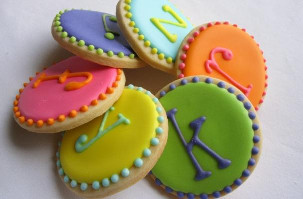 Monogram Dot Sugar Cookies
