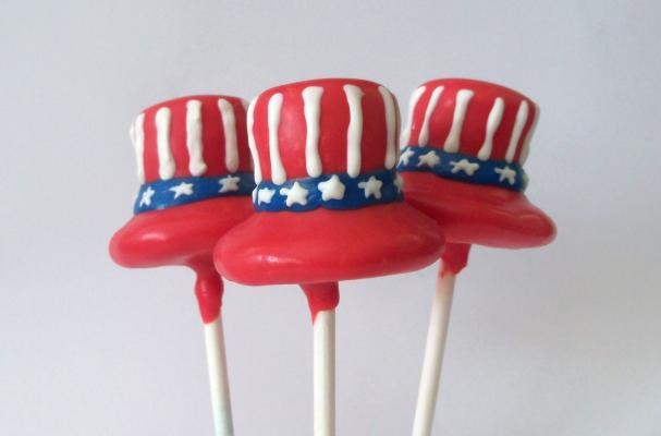 Uncle Sam Cake Pops