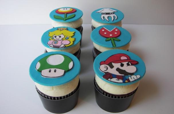 Super Mario Brothers Cupcake Toppers