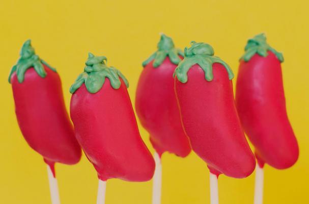 Cinco de Mayo Chili Pepper Cake Pops