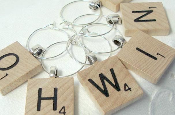 Scrabble Tile Wine Charms