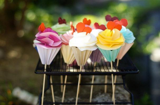 origami cupcakes