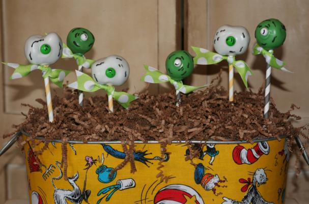 Green Eggs and Ham Cake Pops