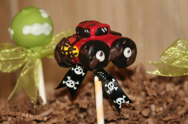 Monster Truck Cake Pops