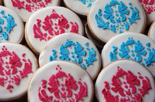 damask cookies