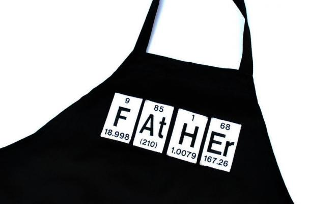 Father Periodic Table Grill Apron