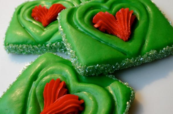 grinch inspired christmas cookies