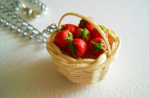 Strawberry Basket Pendant