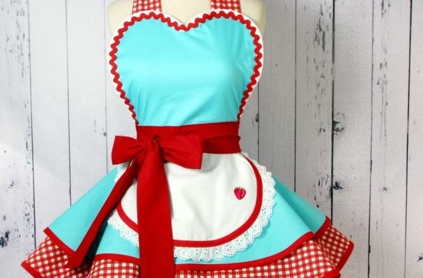 Retro 50s Diner Waitress Apron