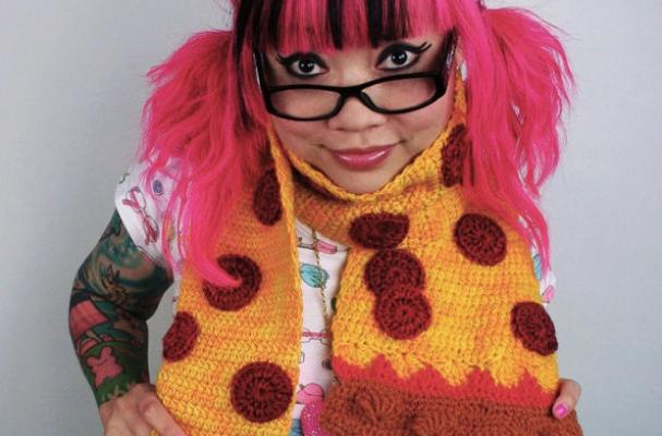 Pepperoni Pizza Scarf