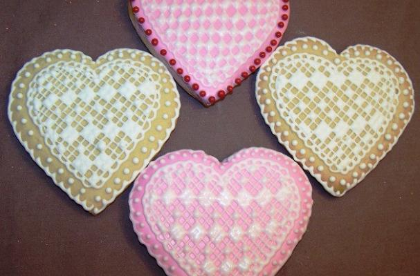 Lacy Heart Sugar Cookies