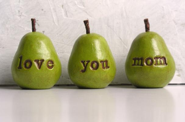 Love You Mom Clay Pears