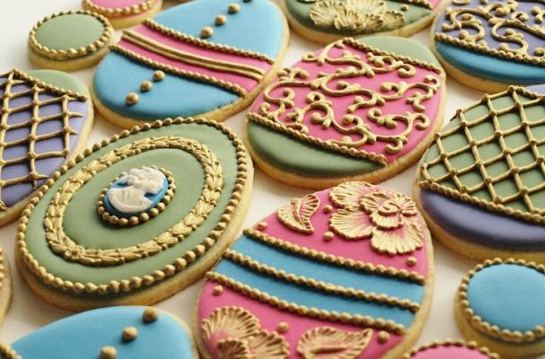 Ornate Easter Egg Cookies