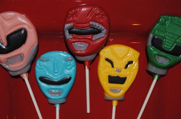 Power Rangers Chocolate Lollipops