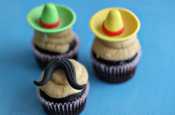 Mustache and Sombrero Fondant Toppers