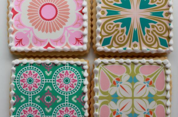Mother's Day Pattern Cookie Gift Box