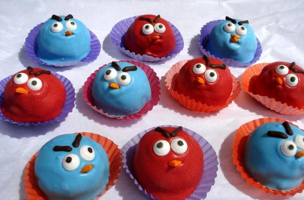 Angry Birds Cake Balls